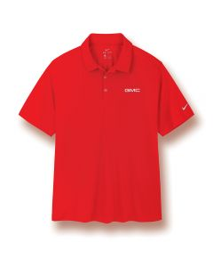 Red Nike®* Vertical Mesh Polo